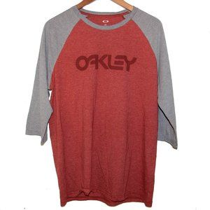 Oakley L 50-Mark-II T-Shirt 3/4 Sleeve Burgundy